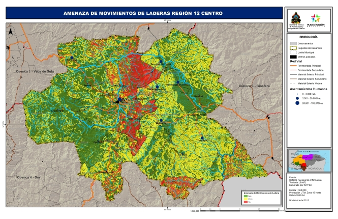 Amenaza de Movimientos de Laderas Región 12 Centro